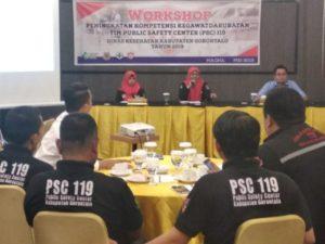 PSC 119 Kabupaten Gorontalo melakukan peningkatan kapasitas dan kompetensi Tim PSC